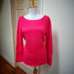 CHELSEA & THEODORE COTTON BLEND KNITTED TOP SIZE L